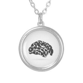 Brain6 Colar Banhado A Prata
