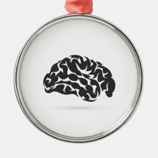 Brain6 Ornamento De Metal