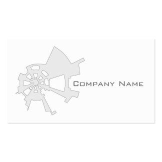 branco abstrato industrial do design cartão de visita