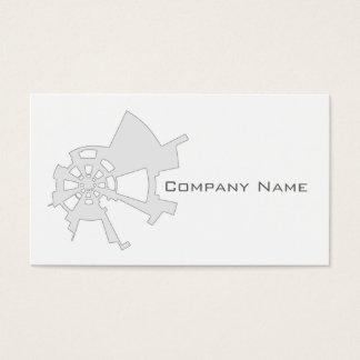branco abstrato industrial do design cartão de visitas