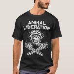 Branco animal do t-shirt da libertação