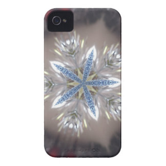 Branco azul brilhante da estrela festiva elegante capinhas iPhone 4