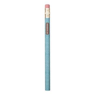 Branco azul do réptil meu lápis do negócio
