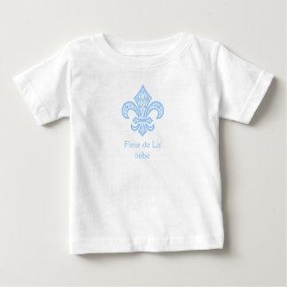 Branco/azul do t-shirt do bebê/criança do bébé™ da camiseta para bebê