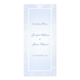Branco azul dos flocos de neve do inverno do model 10.16 x 22.86cm panfleto