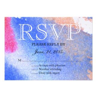 Branco & azul vermelhos convite personalizados
