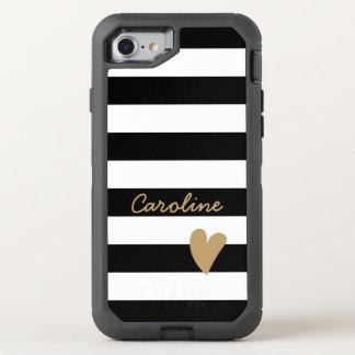 Branco bonito moderno do preto da decoração do capa para iPhone 7 OtterBox defender