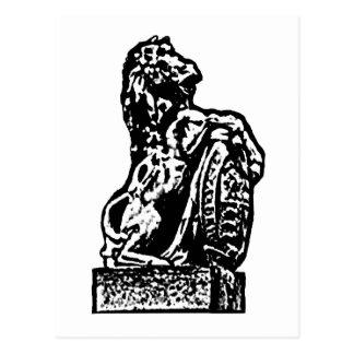 Branco britânico do lv do cavalo do emblema o cartao postal