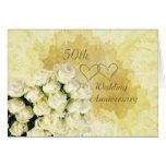 Branco - cartão de creme do aniversário de casamen