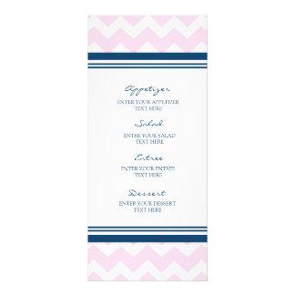 Branco Chevron dos azuis marinhos do rosa do menu