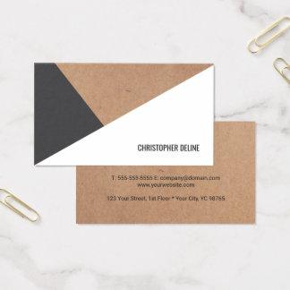 Branco cinzento impresso moderno de papel de cartão de visitas