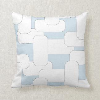 Branco & claro ligados - azul almofada