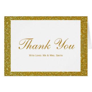 Branco com os cartões de agradecimentos da moldura