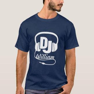 Branco conhecido do auscultadores do DJ no t-shirt Camiseta
