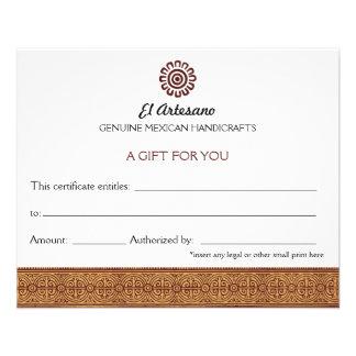 Branco cor-de-rosa do certificado de presente do m panfletos
