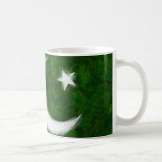 Branco da bandeira de Paquistão caneca do clássico