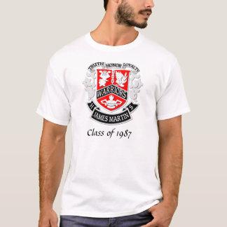 Branco da camisa do formando da brasão do MHS
