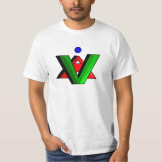 Branco da camisa do logotipo das animações de tshirts