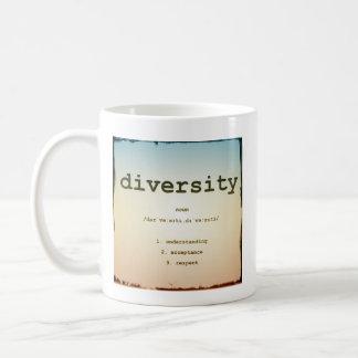 Branco da caneca da diversidade