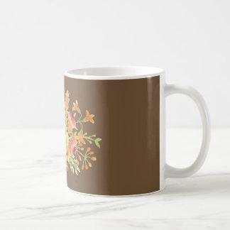 branco da flor da aguarela caneca do clássico de
