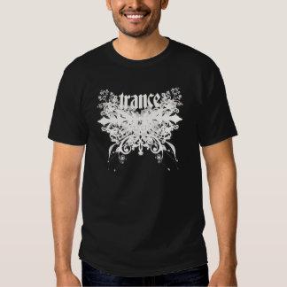 Branco da folha do Trance T-shirt