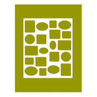 Branco da paisagem da moldura para retrato o MUSEU Cartão Postal