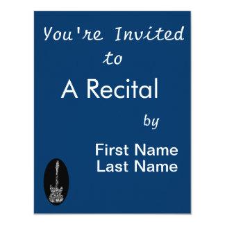 branco da suficiência da palavra da guitarra na convite 10.79 x 13.97cm