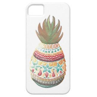 Branco das capas de iphone do abacaxi do Natal