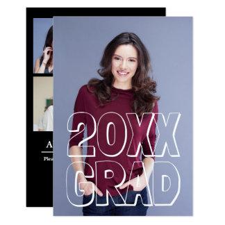Branco das letras de bloco - anúncio da graduação