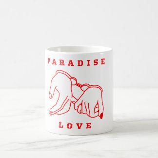 Branco do amor do paraíso caneca do clássico de 11