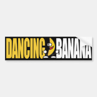 branco do bananayellow da dança adesivo