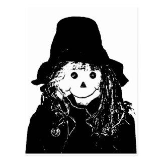 Branco do espantalho do Dia das Bruxas os Cartoes Postais
