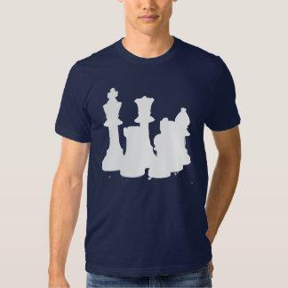 Branco do grupo de xadrez camiseta