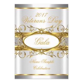 Branco do ouro e partido de prata da chapa do ouro convite 12.7 x 17.78cm