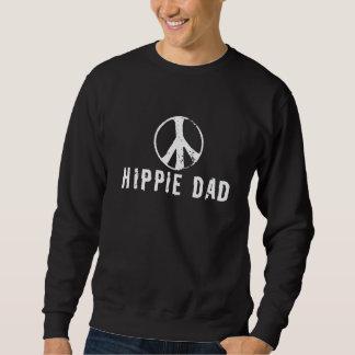 Branco do pai do Hippie Moletom