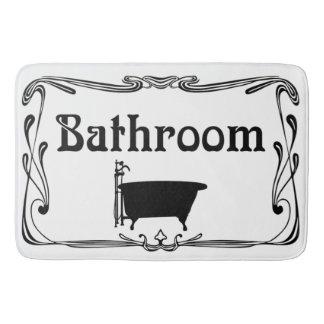 Branco do preto da cuba do vintage do banheiro do tapete de banheiro