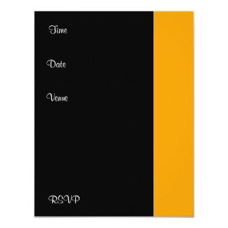 Branco do preto do amarelo da festa de aniversário convites