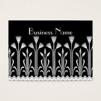 Branco do preto do teste padrão do Victorian do Cartão De Visitas