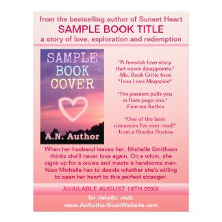 Branco do rosa da capa do livro da promoção do aut panfleto personalizados