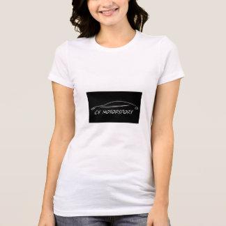 Branco do t-shirt da mulher camiseta
