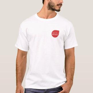 """Branco do t-shirt de Libertas """"uma rede de YouTube Camiseta"""