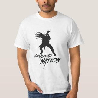 BRANCO do t-shirt do logotipo da nação de Camiseta