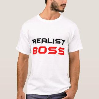 Branco do t-shirt do RealistBoss dos homens Camiseta