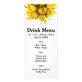 Branco dos rosas amarelos - menu 10.16 x 22.86cm panfleto