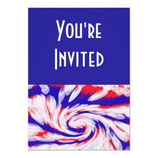 branco e azul vermelhos convite 12.7 x 17.78cm