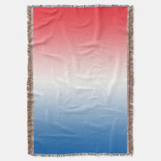 Branco e azul vermelhos throw blanket
