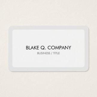Branco e claro arredondados - beira cinzenta cartão de visitas