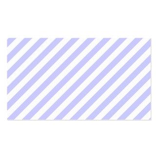 Branco e claro - listras roxas cartão de visita