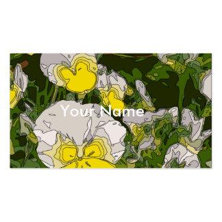 Branco e flores do Daffodil do ouro Modelos Cartão De Visita