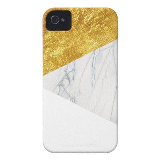Branco e mármore do ouro capa para iPhone